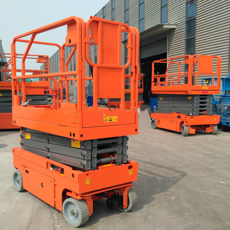 Manganese Steel Electric Aerial Work Platform Lift Height 6m Hydraulic Drive